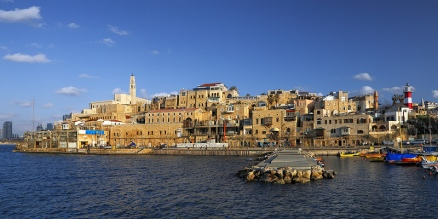 Ancient & modern port of Joppa of Jonah and Peter fame, just south of Tel Aviv. https://en.wikipedia.org/wiki/Jaffa