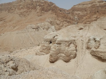 Qumran Caves where the Dead Sea Scrolls were found.