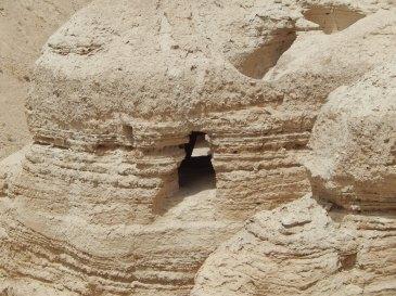 Qumran Caves where the Dead Sea Scrolls were found.