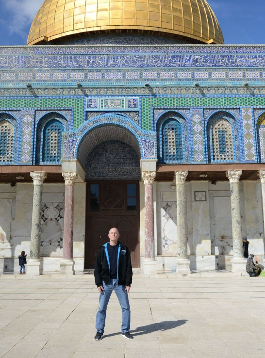 Me on the Temple Mount in front of the Dome of the Rock