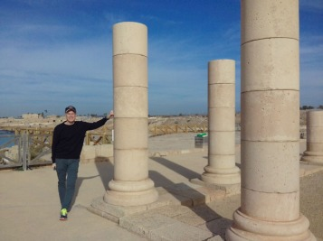 Me at Caesarea-11 years later, December 2017