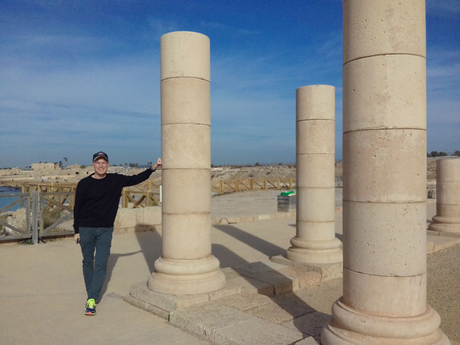 Me at Caesarea-11 years later, December 2017